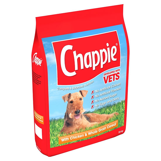 Chappie Dry Dog Food Chicken & wholegrain crereal 15kg