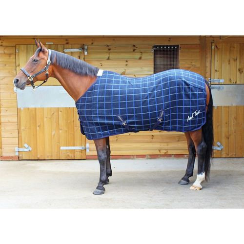 Mark Todd Fleece Rug Bonded Navy Plaid