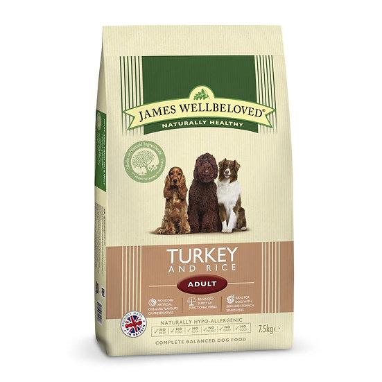 James Wellbeloved Dog Food Adult Turkey 7.5kg