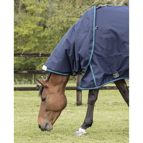 Mark Todd Turnout Rug Heavyweight Neck Cover Navy/Jade