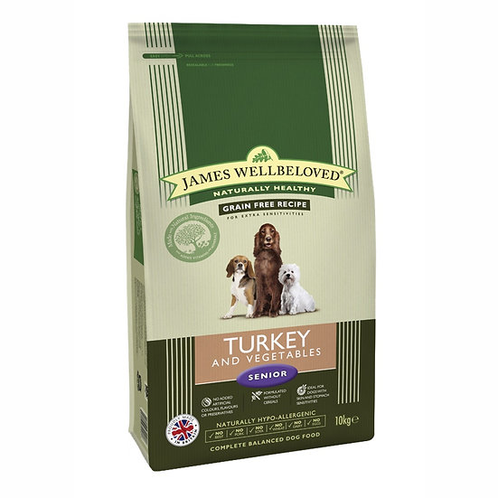 James Wellbeloved Dog Food Adult Turkey Grain Free 1.5kg