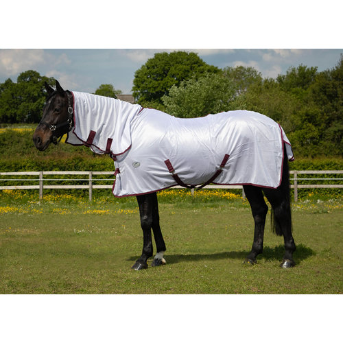 JHL Essential Fly Rug Combo White/Burgundy