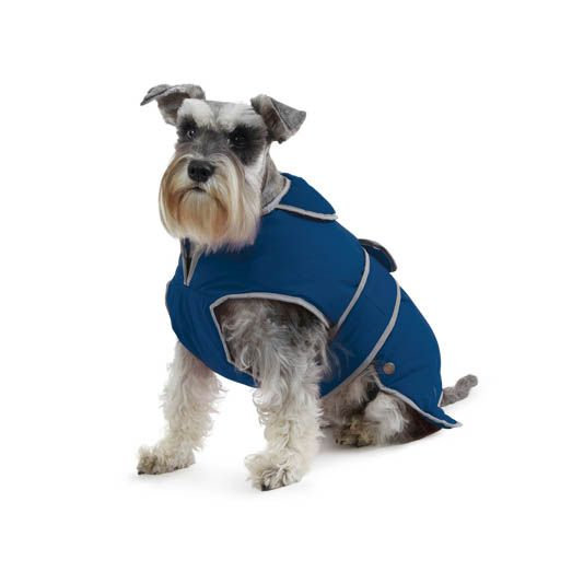 Ancol Muddy Paws Stormguard Blue Waterproof Fleece Lined Dog Coat