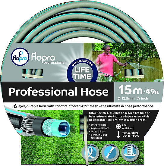 Flopro Professional Hose Pipe (15m)