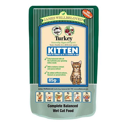 James Wellbeloved Kitten Food Turkey Pouches 12 x 85g