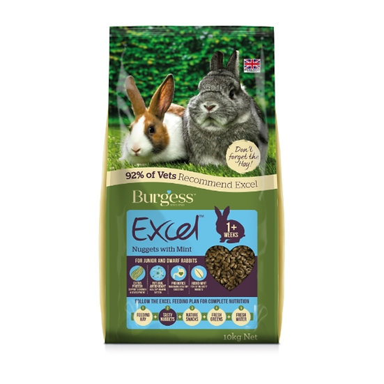 Burgess Excel Rabbit Junior and Dwarf 2kg