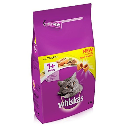 Whiskas Dry 1+ Chickens  Cat Food 2kg