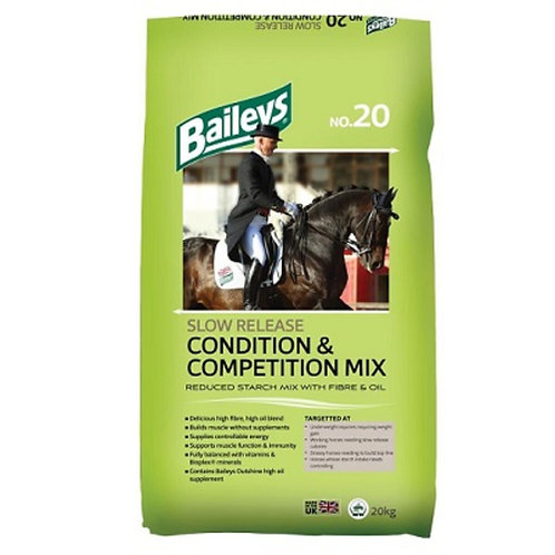 Baileys No 20 Slow Release Condition & Competition Mix 20Kg