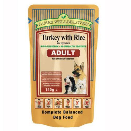 James Wellbeloved Dog Food Adult Turkey Pouches 10 x 150g