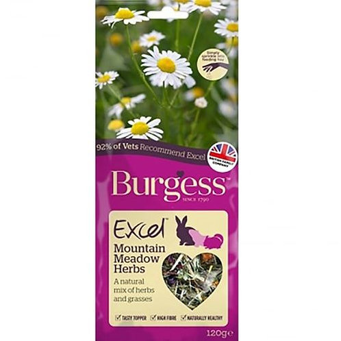 Burgess Excel Snack Mountain Meadow Herbs 120g