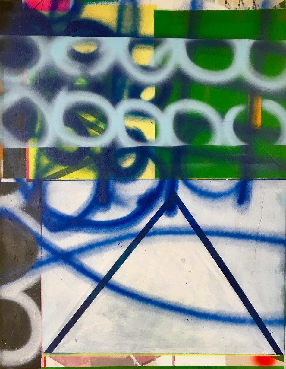 55 x 70cms acrylic and spray paint on canvas