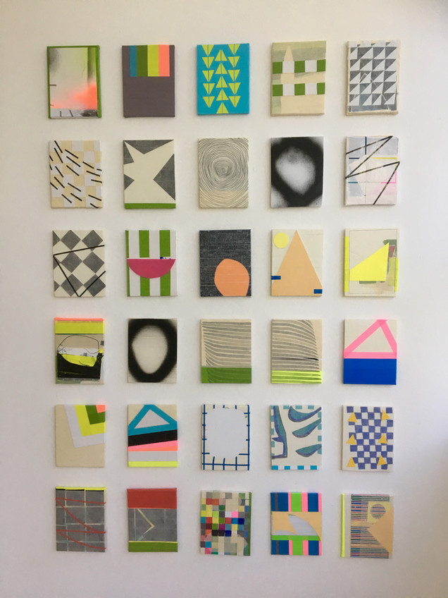 Small collages, each 8 x 15cms on foam board