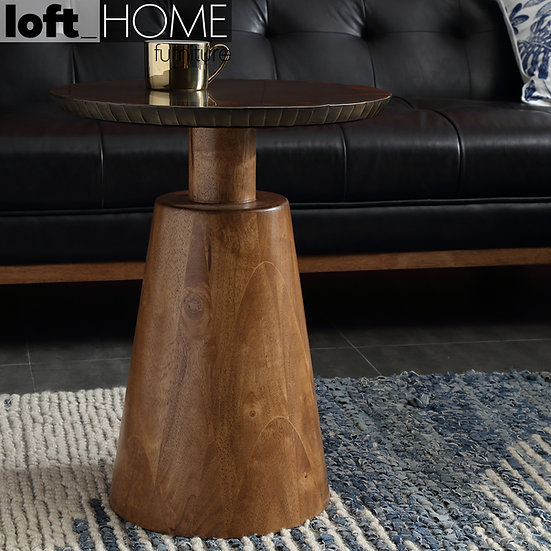 Round Side Table – VINTAGE BRASS