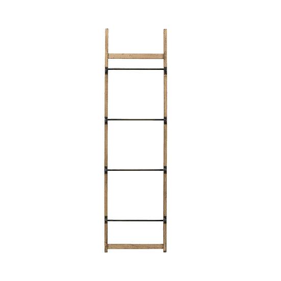 Metal & Wood Wall Rack w/ 4 Bars, KD