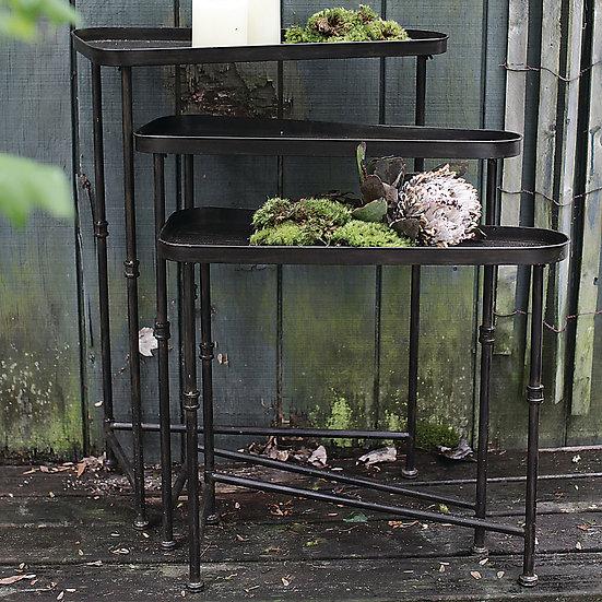 Metal Nesting Side Table, Set of 3