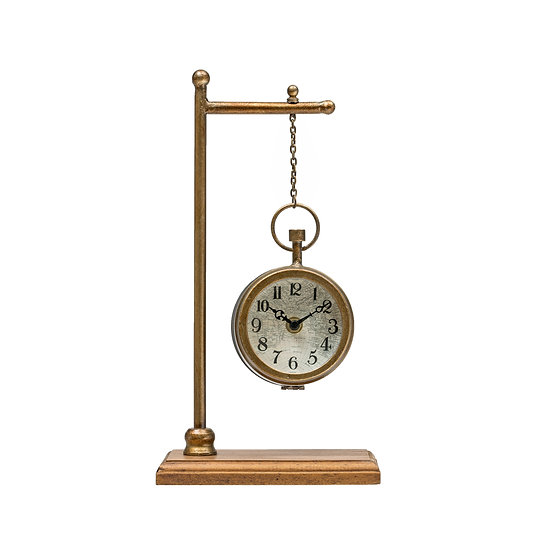 MDF & Metal Clock Copper