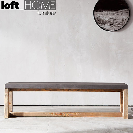 Concrete Dining Bench – RANK