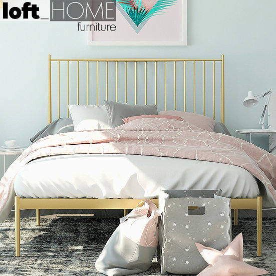 Iron Bed-Classic Gold