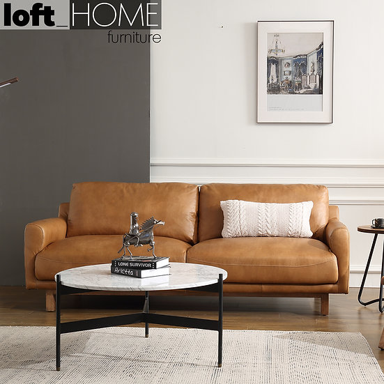 Full Genuine Leather Sofa – RW & Nut Ter