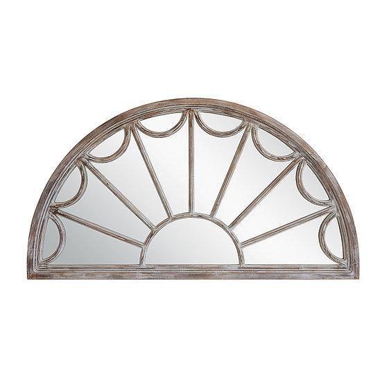 Wood Mirror Half Circle