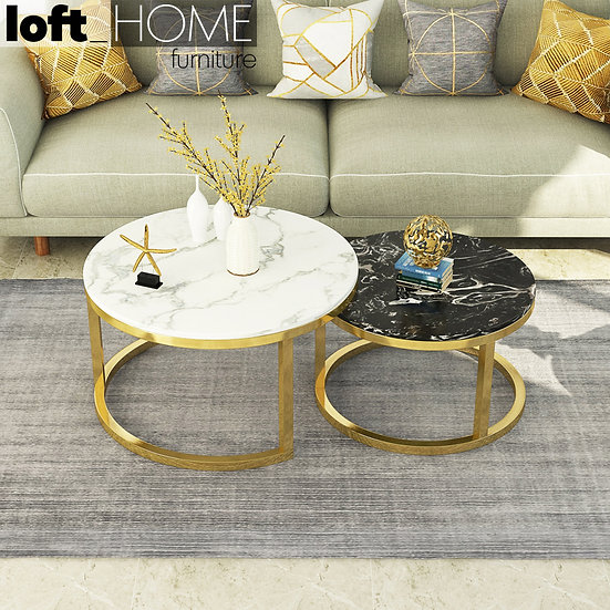 Coffee Table – Marble / Stainless Steel
