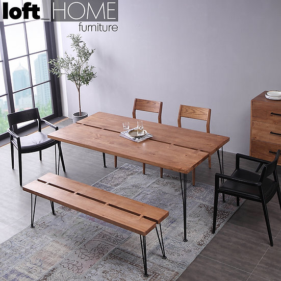 Rubber Wood Dining Table & Bench – DOVETAIL