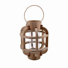 Fir Lantern w/ Glass Insert, Large