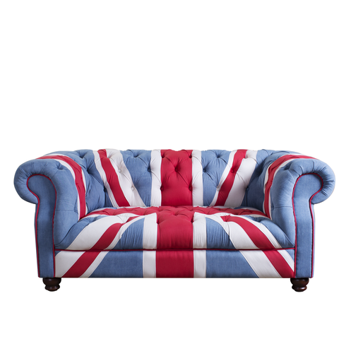 Chesterfield Sofa Union Jack Denim