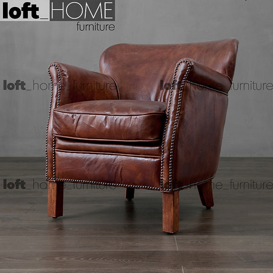 Full Genuine Leather Sofa - Wing Chair
