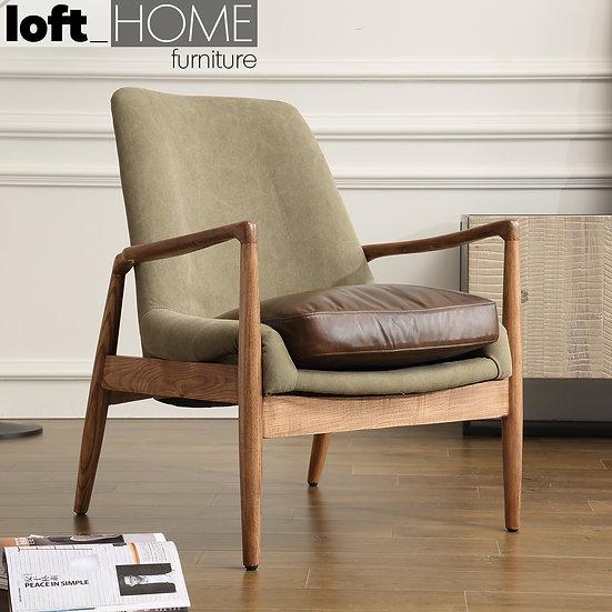 Genuine Leather & Canvas Sofa Chair – BARTON