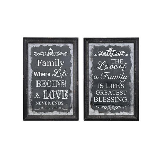 Wood Family & Love Wall Décor, 2 Styles