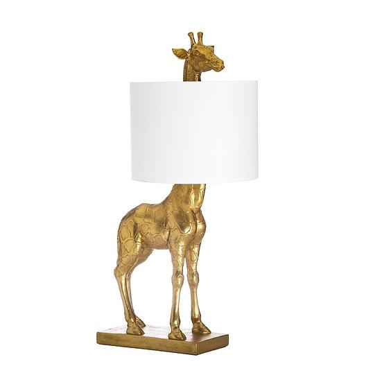 Resin Giraffe Table Lamp, Gold Finish (Plug Type C)
