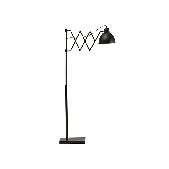 Metal Accordion Floor Lamp w/ Metal Shade, Black