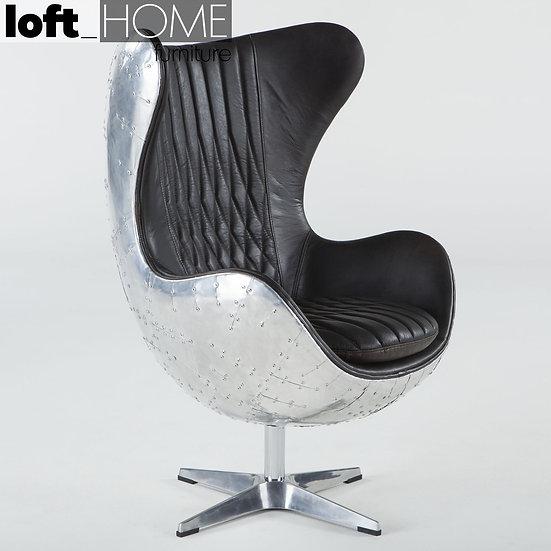 Genuine Leather & Aluminium Chair – EGG