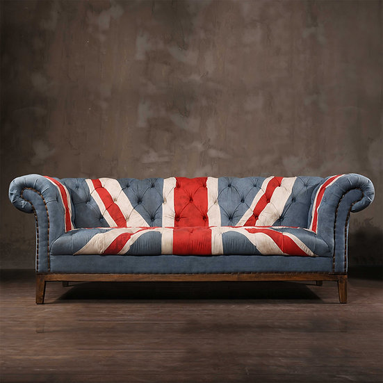 Vintage Fabric Sofa – UNION JACK
