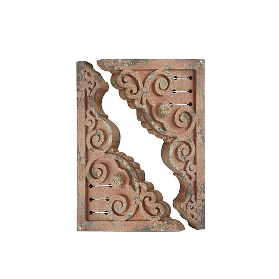 MDF Corbels, Distressed Pink, Set of 2