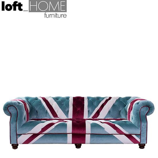 Fabric Chesterfield Sofa – Union Jack Velvet