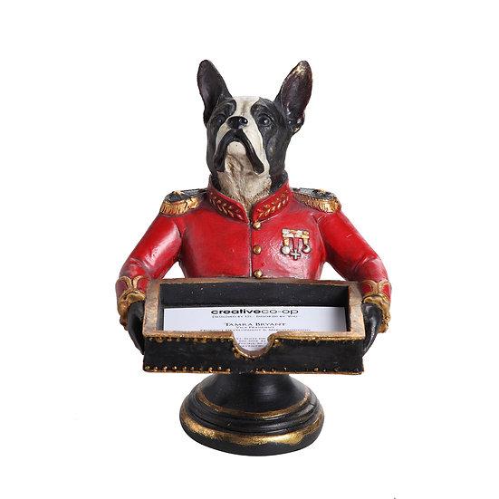 Resin Bull Terrier Business Card Holder