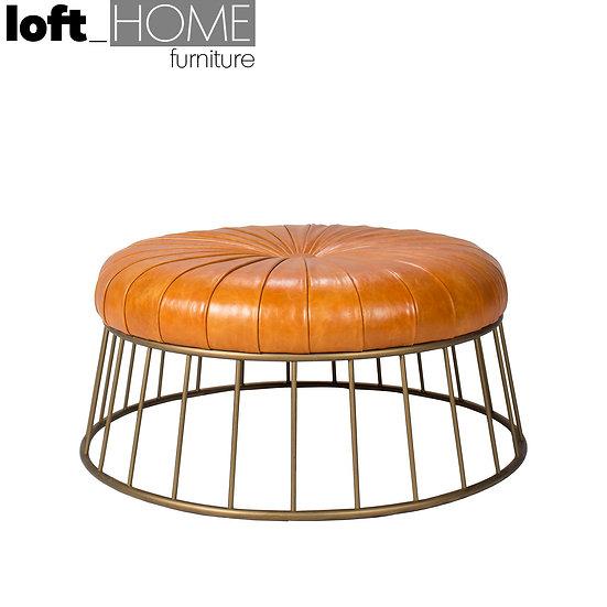 Genuine Leather Sofa Stool – SPIRAL