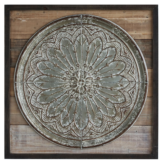Wood & Iron Embossed Wall Décor