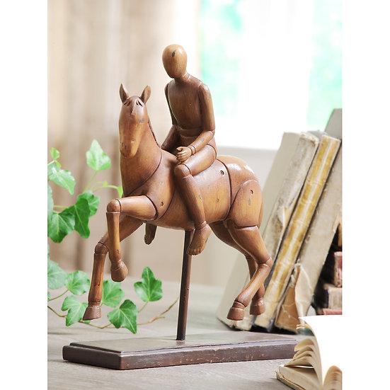 Resin Horse & Rider