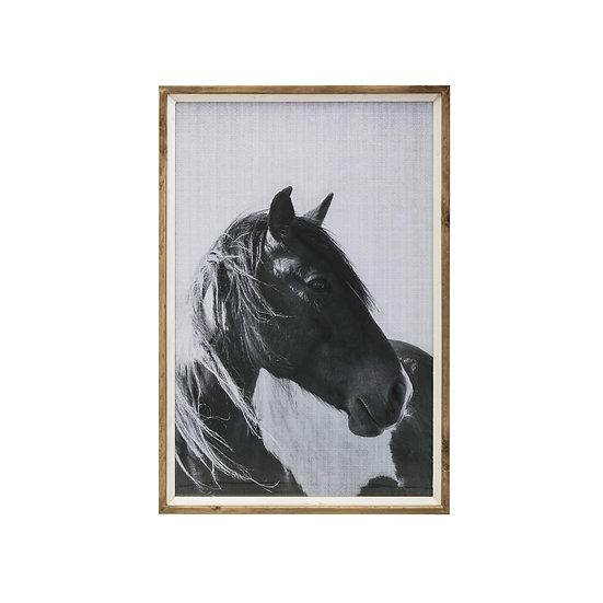 Fir Framed Wall Art w/ Horse