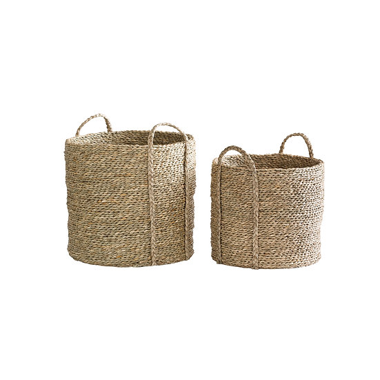 Seagrass & Water Hyacinth Baskets (2in1 Set)