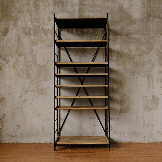 Metal & Fir 8-Tier Shelf w/ 8 Removable Trays, KD