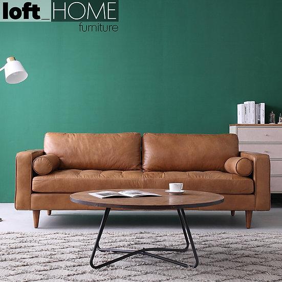 Full Genuine Leather Sofa - OLGA