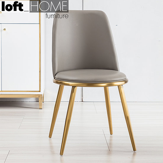 Dining Chair – PU Leather / Stainless Steel