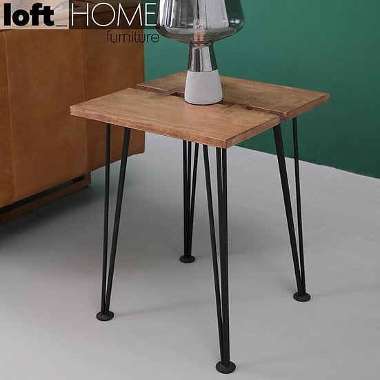 Rubber Wood Side Table – DOVETAIL