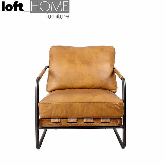 Full Genuine Leather Sofa – GREY ASH
