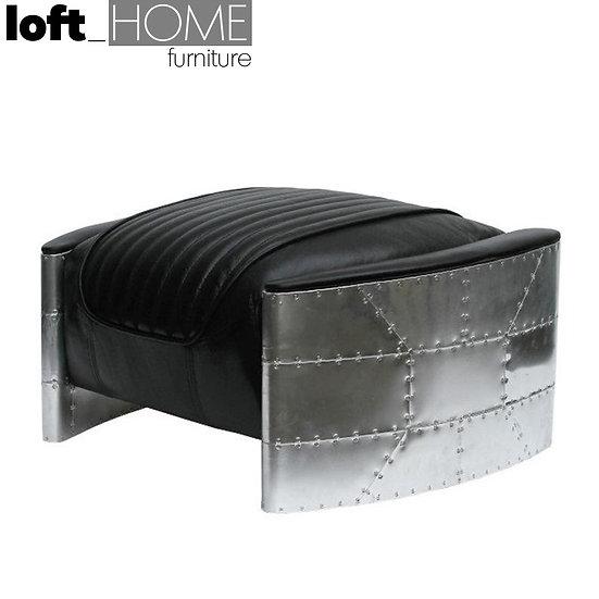 Genuine Leather & Aluminium Ottoman – AIRCRAFT