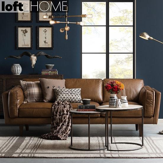 Genuine Leather Sofa – BROOKLYN